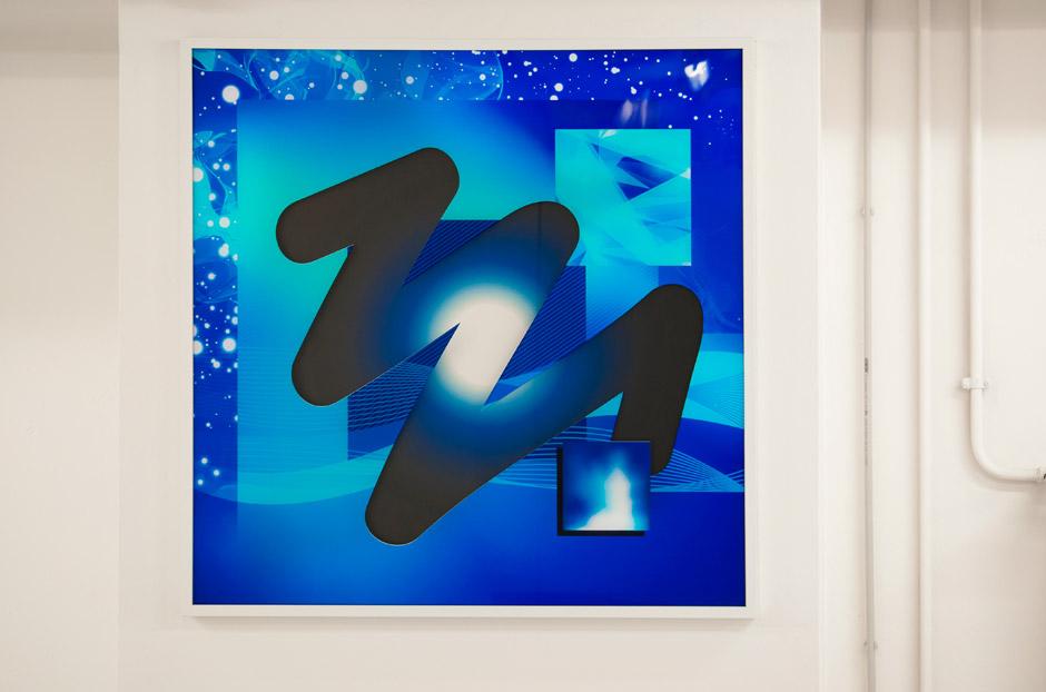 Marotta & Russo - Deep in Blue 01, stampa UV su plexiglass e forex, 100x100 cm