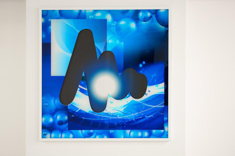 Marotta & Russo - Deep in Blue 03, stampa UV su plexiglass e forex, 100x100 cm