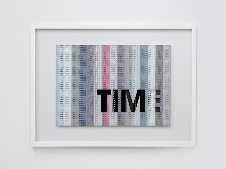Marotta & Russo - Maybe, Time?, stampa UV su vetro, stampa digitale su carta, 50x70 cm