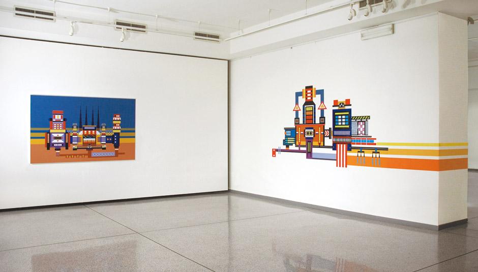 Marotta & Russo - Outline: The Reverse Practice, stampa inkjet su vinile, 150x390 cm
