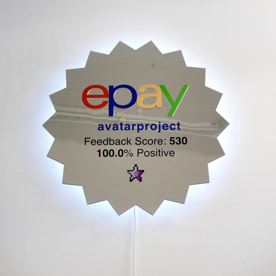 Marotta & Russo - Our Good(s) Profile, pvc a specchio e forex intagliati, led, 106x106 cm